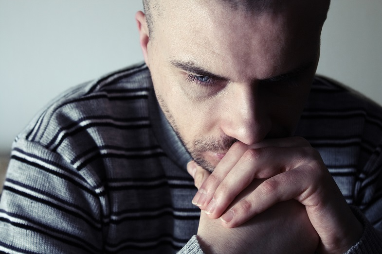 Depression in men can be a result of hormonal imbalance
