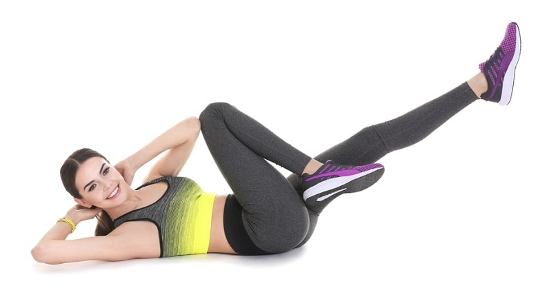 Bicycle Crunch abs workout for women