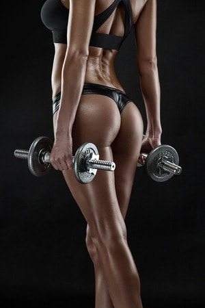 Slim female athlete