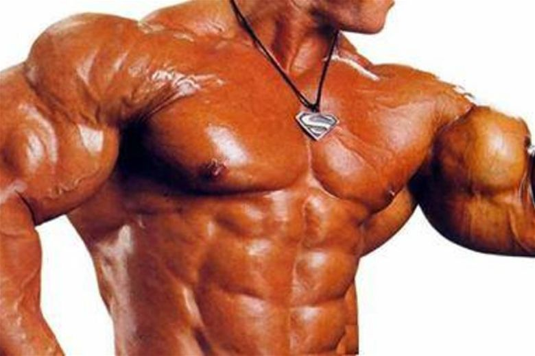 Shiny skin is one of those signs of using steroids