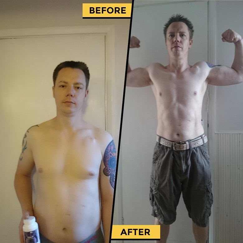 Carl Before and After taking Crazy Bulk supplements