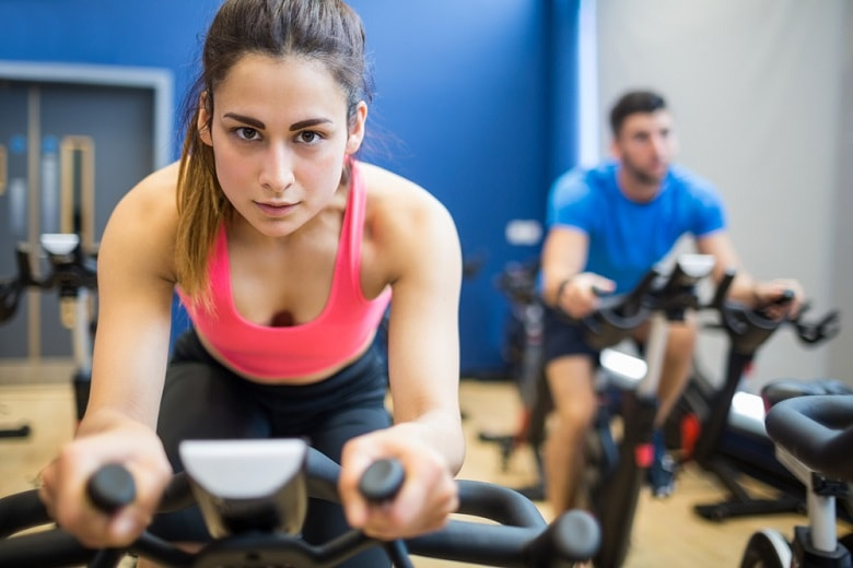 High intensity spinning exercise