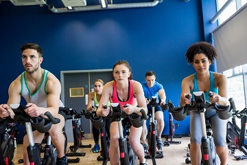 Spinning workout helps getting in shape fast