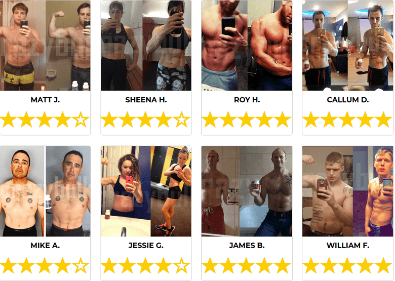 Mass gaining results and testimonials